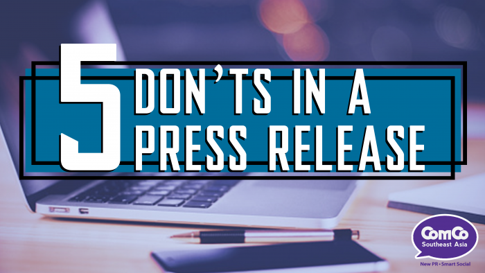 5 Don'ts in a Press Release