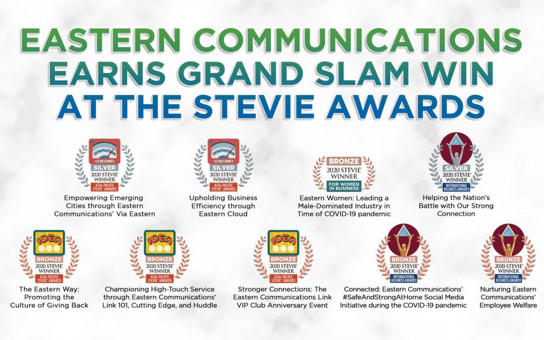 Eastern Communications earns grand slam win at the Stevie Awards