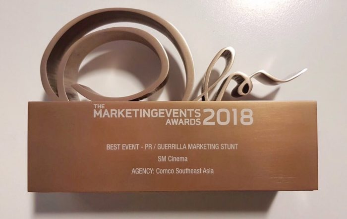SM Cinema, lone Philippine brand to win at Marketing Events Awards 2018