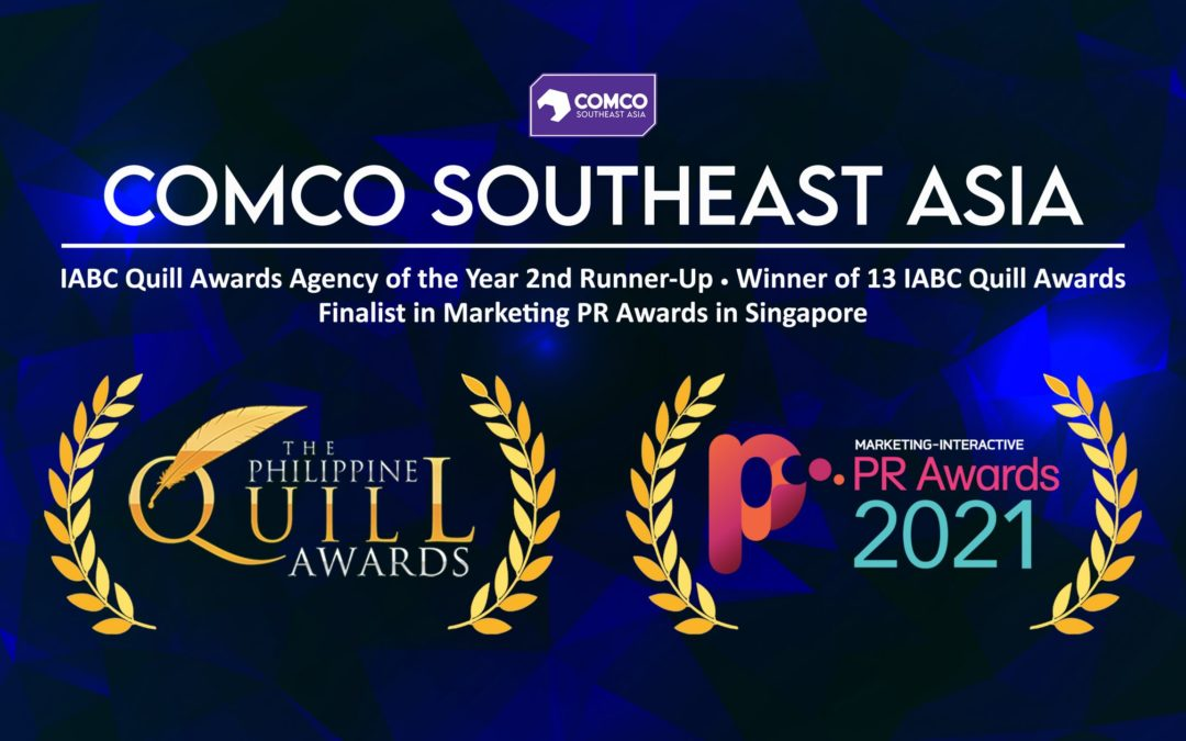 ComCo Southeast Asia's authentic campaigns with clients recognized at the IABC Quill Awards and Marketing PR Awards in Singapore