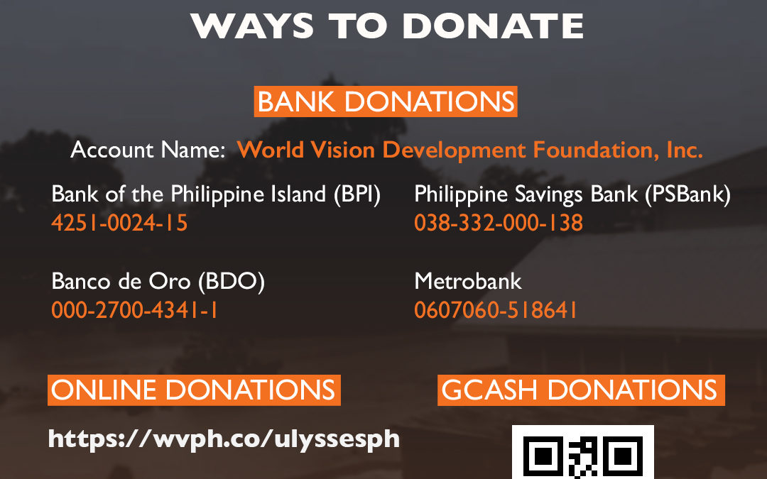 World Vision mounts humanitarian response for families affected by typhoon Ulysses