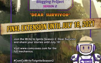 """Write to Ignite Season 2: Dear Survivor"" announces final extension until July 18, 2021"